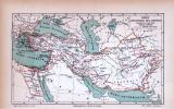 Reich Alexander des Grossen Landkarte ca. 1885 Original...