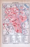 Augsburg Stadtplan ca. 1885 Original der Zeit