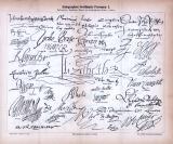 Autographen berühmter Personen I. + II. ca. 1885 Original der Zeit