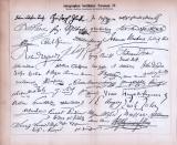 Autographen berühmter Personen III. und IV. ca. 1885 Original der Zeit