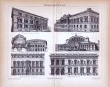 Berliner Bauten ca. 1885 Original der Zeit
