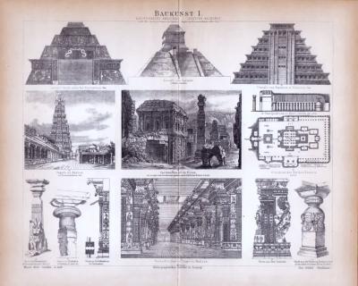 Baukunst I. ca. 1885 Original der Zeit