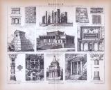Baukunst II. ca. 1885 Original der Zeit