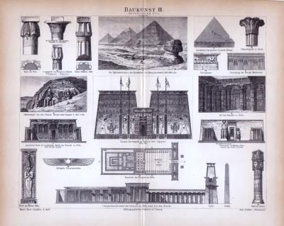 Baukunst III. ca. 1885 Original der Zeit
