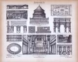 Baukunst VI. ca. 1885 Original der Zeit
