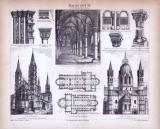 Baukunst  IX. ca. 1885 Original der Zeit