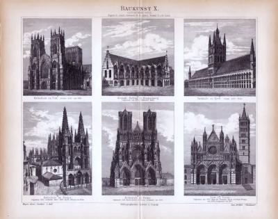 Baukunst  X. ca. 1885 Original der Zeit