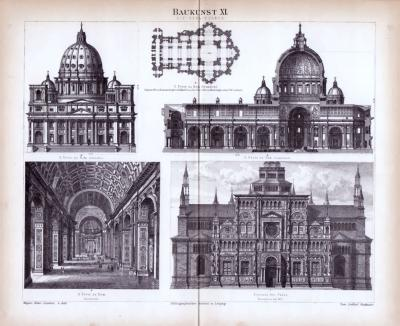 Baukunst XI. ca. 1885 Original der Zeit