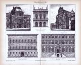 Baukunst XII. ca. 1885 Original der Zeit