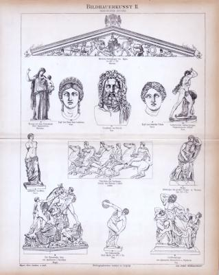 Bildhauerkunst II. ca. 1885 Original der Zeit