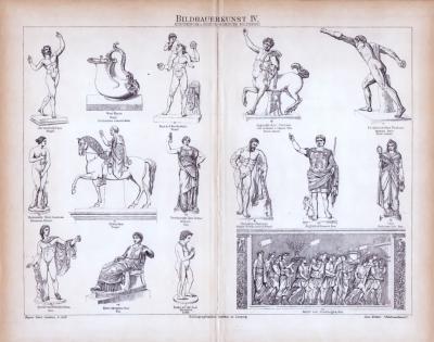 Bildhauerkunst IV. ca. 1885 Original der Zeit