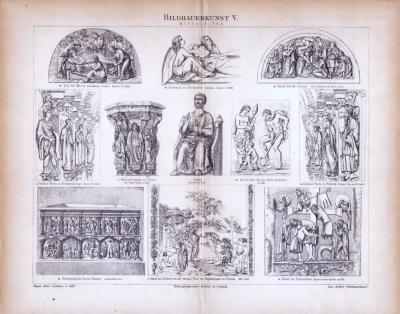 Bildhauerkunst V. ca. 1885 Original der Zeit