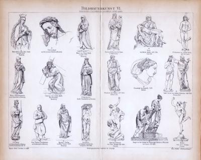 Bildhauerkunst VI. ca. 1885 Original der Zeit