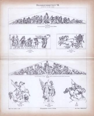 Bildhauerkunst VII. ca. 1885 Original der Zeit