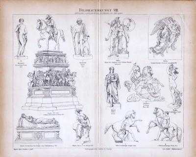 Bildhauerkunst VIII. ca. 1885 Original der Zeit