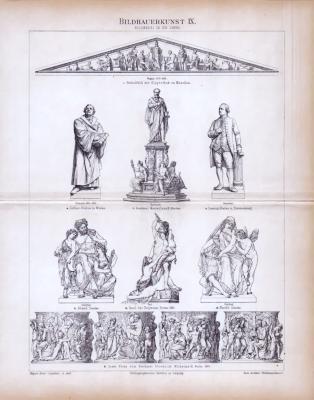 Bildhauerkunst IX. ca. 1885 Original der Zeit