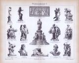 Bildhauerkunst X. ca. 1885 Original der Zeit