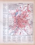 Chemnitz Stadtplan ca. 1885 Original der Zeit