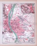 Budapest Stadtplan ca. 1885 Original der Zeit