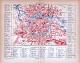 Breslau Stadtplan ca. 1885 Original der Zeit