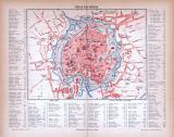 Braunschweig Stadtplan ca. 1885 Original der Zeit