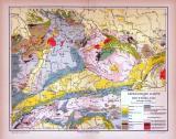 Deutschland Geologische Karte ca. 1885 Original der Zeit