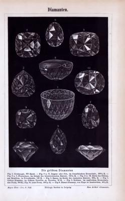 Diamanten ca. 1885 Original der Zeit