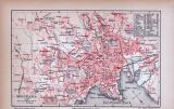 Christiania Stadtplan ca. 1885 Original der Zeit