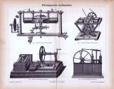 Elektromagnetische Kraftmaschinen ca. 1885 Original der Zeit