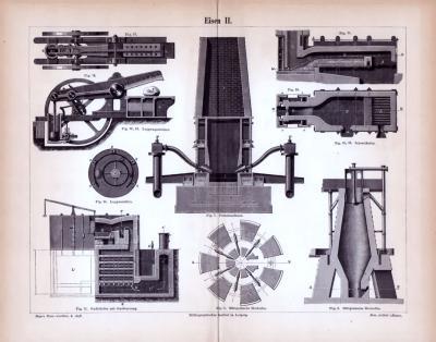 Eisen II. ca. 1885 Original der Zeit