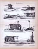 Dreschmaschinen ca. 1885 Original der Zeit