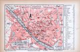 Florenz Stadtplan ca. 1885 Original der Zeit