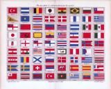 Flaggen I. ca. 1885 Original der Zeit