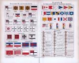 Flaggen II. Deutsches Reich und Flaggen III. Internationales Signalbuch ca. 1885 Original der Zeit