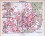 Kopenhagen Stadtplan ca. 1885 Original der Zeit