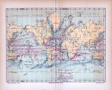 Farbig illustrierte Weltkarte aus 1885 zeigt...