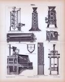 Stich aus 1885 zum Thema Mühlen.