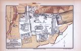 Farbig illustrierte Karte der archäologischen...