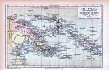 Farbig illustrierte Landkarten aus 1855 der Deutschen...