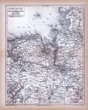 Farbig illustrierte Landkarte aus dem Jahr 1885 zeigt den...