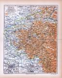 Farbig illustrierte Landkarte von Posen aus dem Jahr 1885.