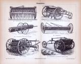 Stich aus 1885 zeigt verschiedene landwirtschaftliche...