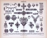Stich aus 1885 zeigt verschiedene kunstvoll gefertigte...