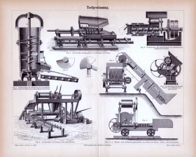Stiche aus 1885 zum Thema Torfgewinnung.