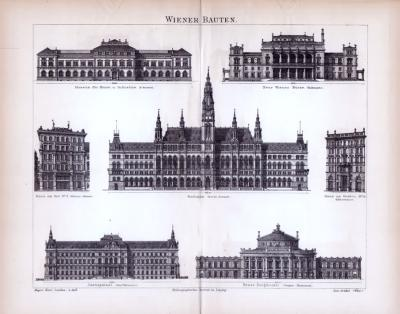 Stich aus 1885 zeigt Wiener Prachtbauten.