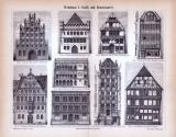 Abhandlung zur Geschichte des Wohnhauses und Stiche aus...
