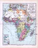 Politische Übersicht von Afrika um 1893. Europäische...