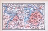 Stadtplan und Umgebungskarte von Antwerpen, Belgien im...