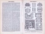 Abhandlung zu Arbeiterwohnungen aus dem Jahr 1893 mit umfangreichen Architekturgrundrißen.