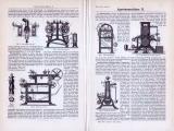 Appreturmaschinen I. + II. ca. 1893 Original der Zeit